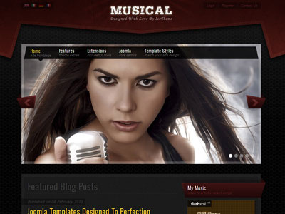 IT Musical Joomla Album Store Template