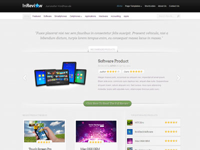 InReview WordPress User Review Theme