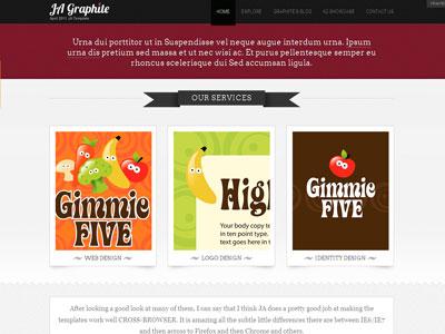 JA Graphite Joomla Showcase Template
