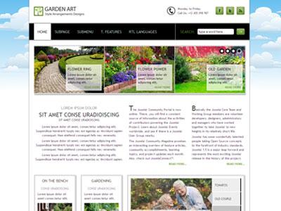 JM Garden Art Joomla Photography Template