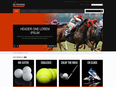 JM Minisite Magento Sports Store Theme