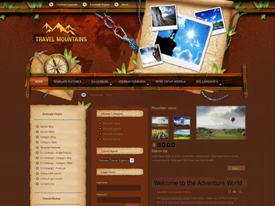 JM Mountains Joomla Travel Tourism Template