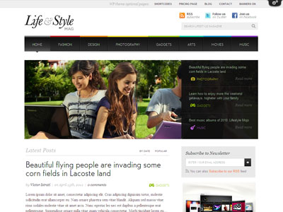 Lifestyle WordPress Celebrity News Theme