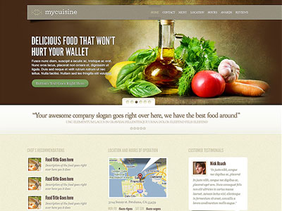 MyCuisine WordPress Delicious Theme