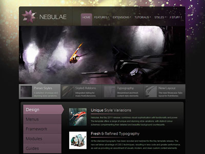 Nebulae Joomla Template | Gantry Joomla Template Framework for ...