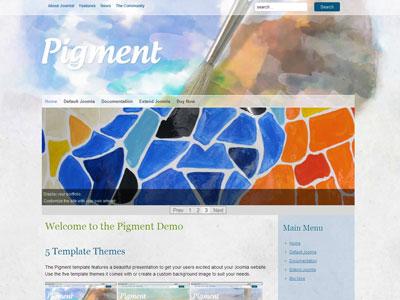 Pigment Joomla Digital Painting Template