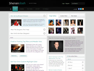 Shenandoah Joomla News Articles Template