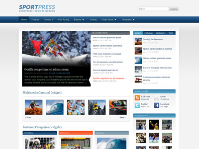 SportPress WordPress Sport News Theme