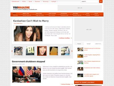 YouMagazine Joomla News Template