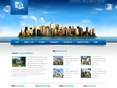 ZT Pelo Joomla Real Estate Template for Home Rentals, Vacation ...