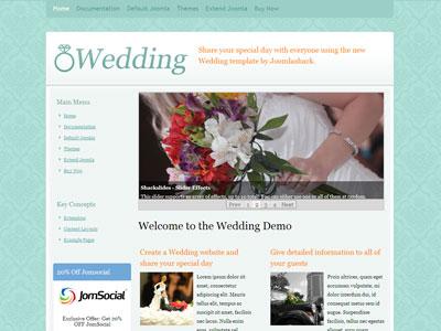 JS Wedding Joomla Anniversaries Template