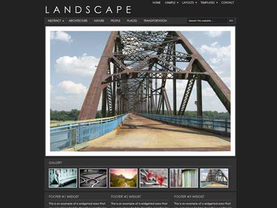 Landscape Child Photography Theme
