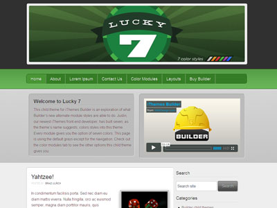 Lucky 7 WordPress Child Theme