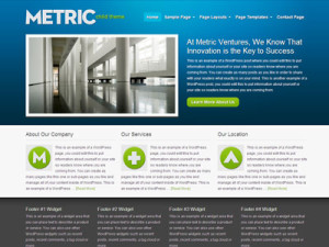 Metric Child Wordpress Business Theme