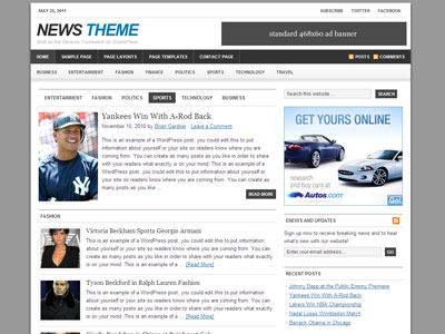 News Child Theme for Genesis Framework | Wordpress News Style Theme ...