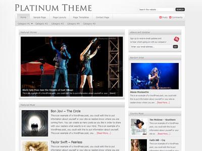 Platinum Child WordPress Magazine Theme