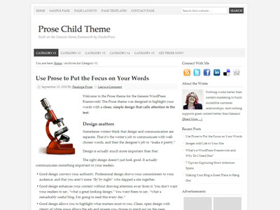 Prose Child Content WP Theme