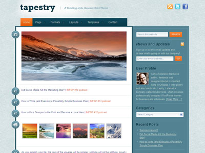 Tapestry Child WordPress Blogging Theme