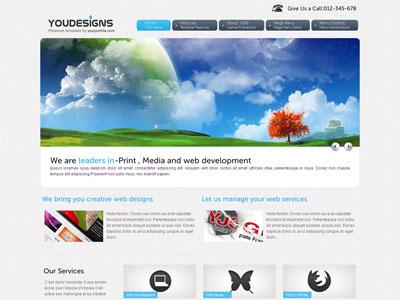 YouDesigns Joomla Designer Portfolio Template