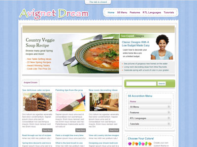 Avignet Dream WordPress Theme