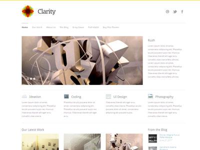 Clarity WordPress Minimal Portfolio Theme