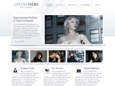 Crystal Child WordPress Portfolio Theme