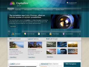 Crystalline Drupal Transparent Theme