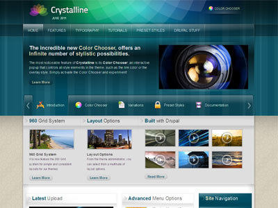 Crystalline Drupal Transparent Theme