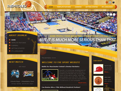 DJ Sport01 Joomla Basketball Template