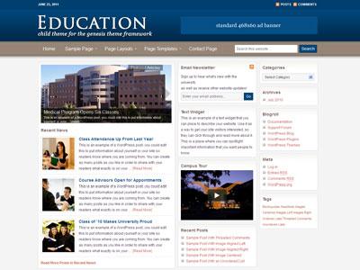Education Child WordPress University Theme