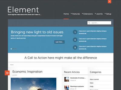 Element Joomla Magazine Template