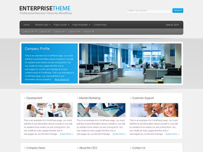 enterprise child 1 0 1 theme wordpress professional business theme for showcase services. Black Bedroom Furniture Sets. Home Design Ideas