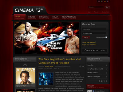 IT Cinema 2 Joomla Film Template