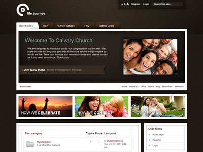 Life Journey PhpBB3 Style Template