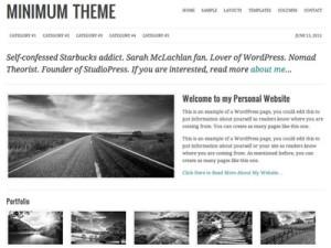 Minimum Wordpress Personal Website Theme