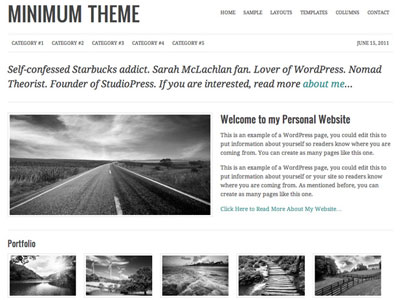 Minimum WordPress Personal Website Theme