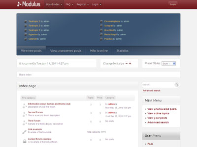 Modulus phpBB3 Style Template