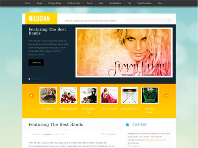 Musician WordPress eCommerce Theme