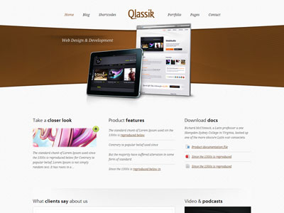 web designer wordpress theme