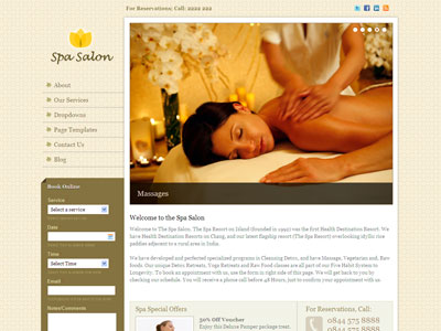 Spa Salon WordPress Rejuvenate Theme