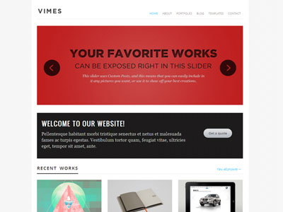Vimes WordPress Photography Theme