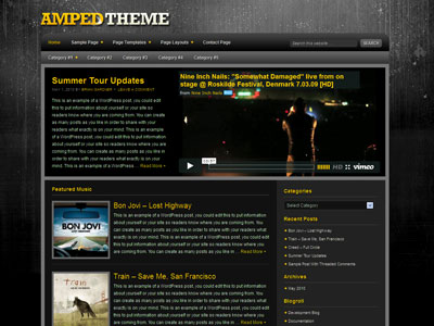 Amped Child Music Video Theme