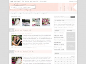 Blissful Child Wordpress Wedding Planning Theme
