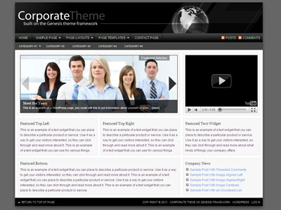 Corporate Child WordPress Theme
