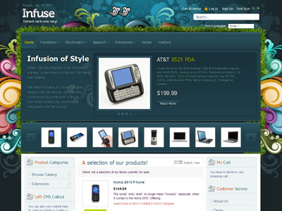 Infuse Magento Online Store Template