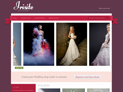 JM Irisite Magento Wedding Shop Theme