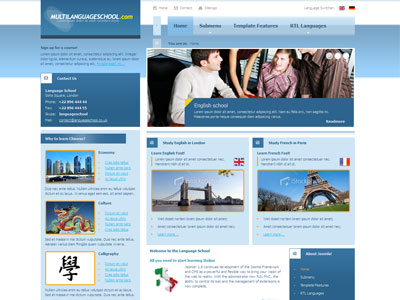 JM Language School Joomla Template