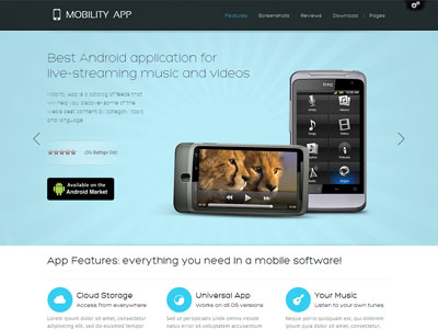 MobilityApp Wordpress Apps Theme for iPad, iPhone Apps