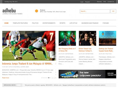 Games Template Joomla Games Magazine Joomla Template