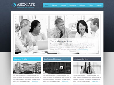 Associate Child 1.0 Theme | Wordpress Corporate Theme | Wordpress ...